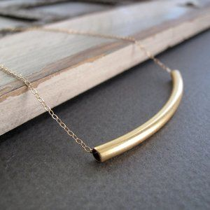 STEFENY STANYER Minimalist Tube Necklace